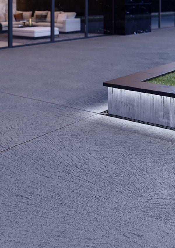 Декоративно покритие на циментова основа за външни площи
