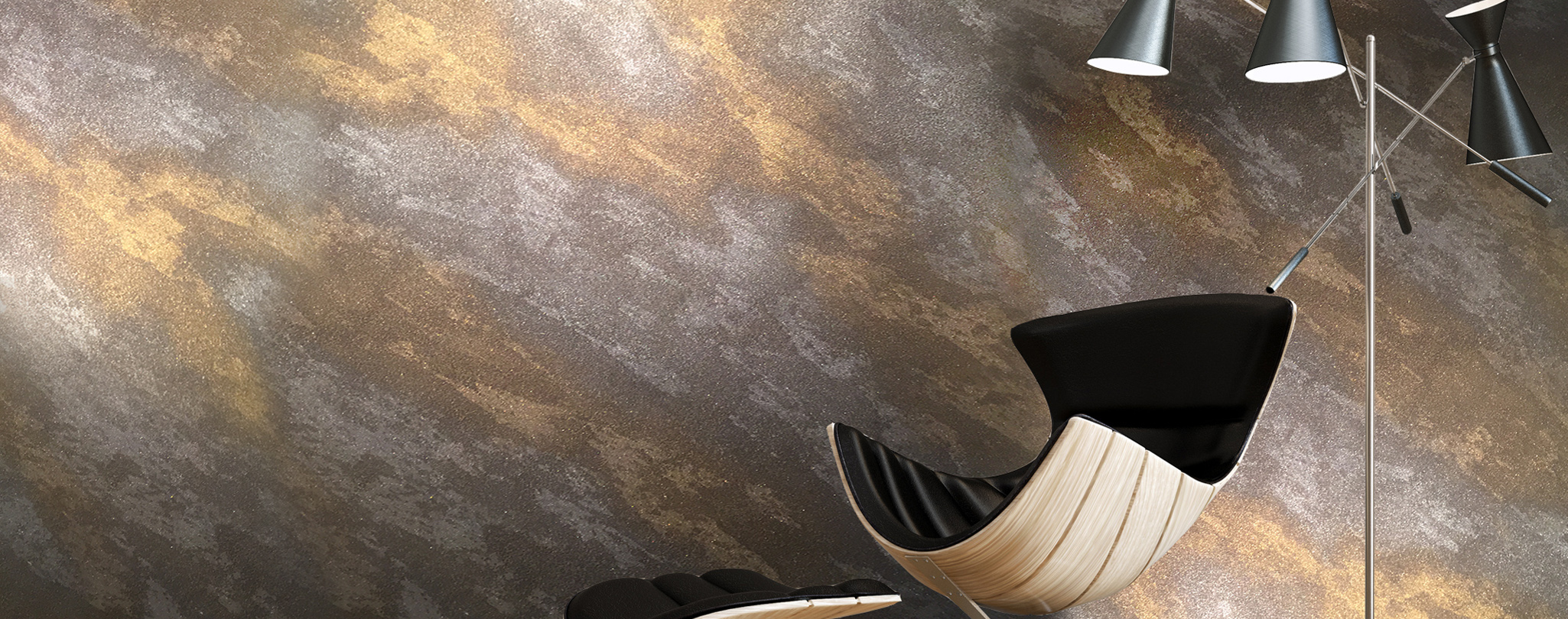 Ръст стайл декоративна мазилказа вътрешни помещения. еко имитация на ръжда