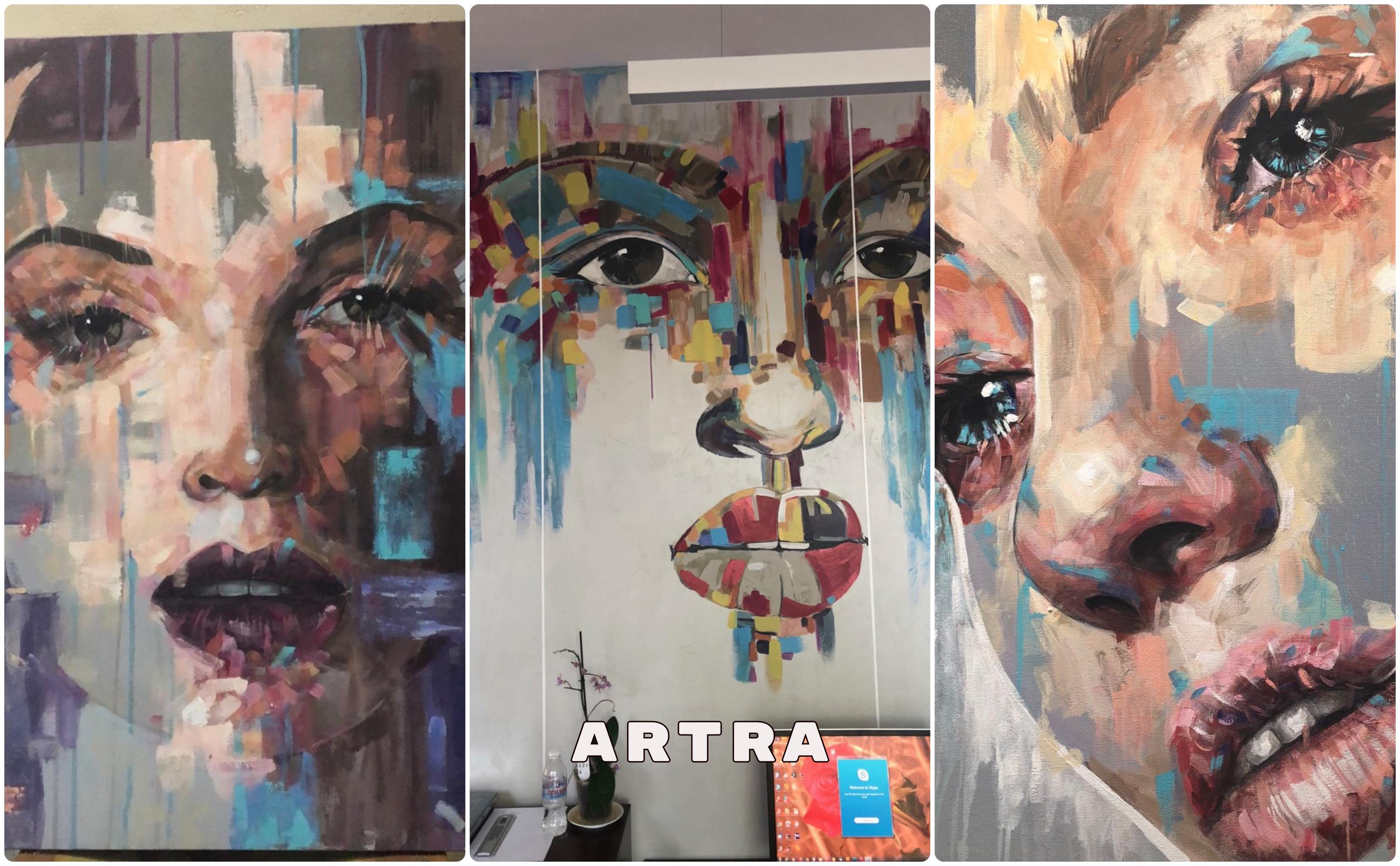 Арт проекти, изпълнени в декоративни бои и мазилки в голям мащаб.