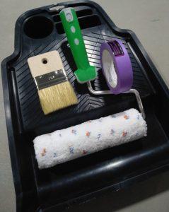 инструменти четка валяк ваничка тиксо за полагане на мазилка Кристалия кристал Артра